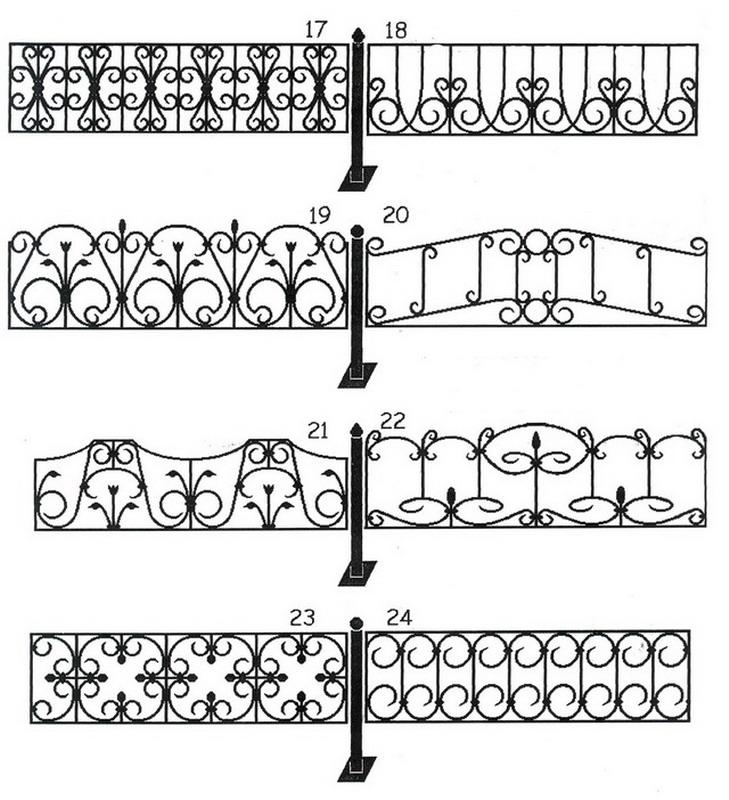 Узоры для ограды своими руками 55