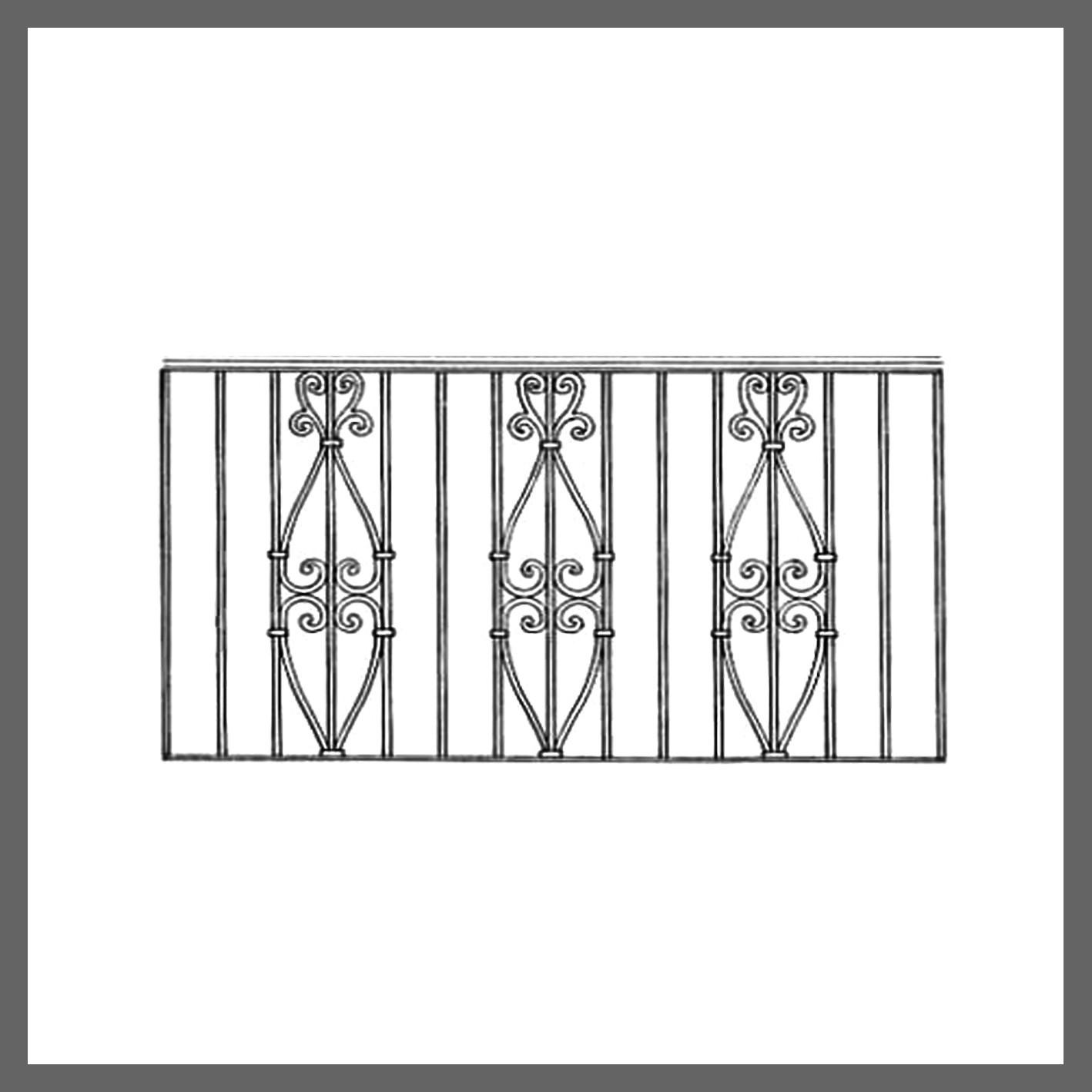 Эскизы кованых балконов.