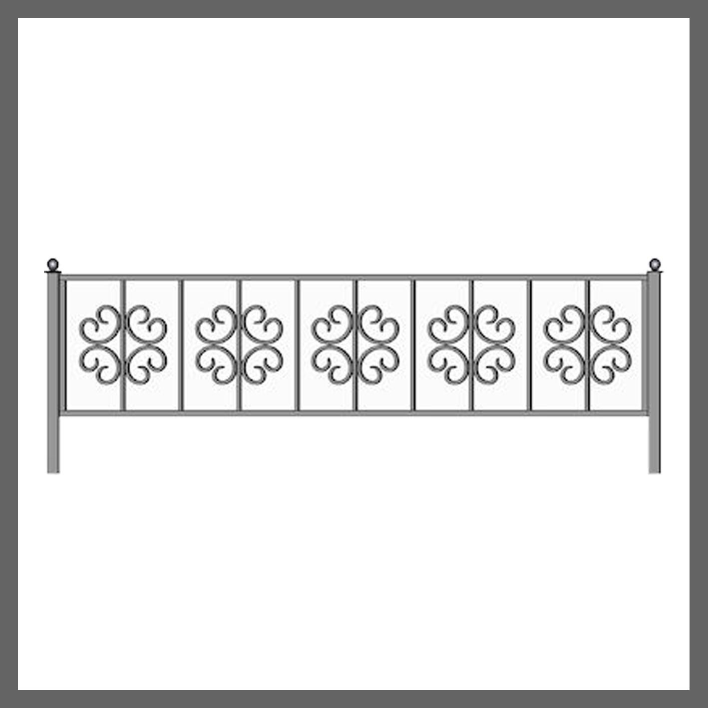 Эскиз ограды на кладбище 22