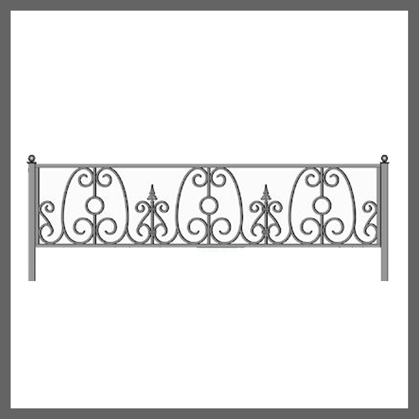 Эскиз ограды на кладбище 26