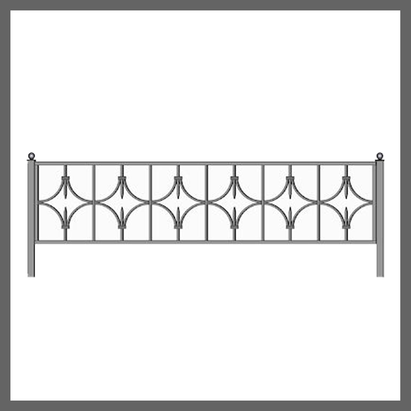 Эскиз ограды на кладбище 34