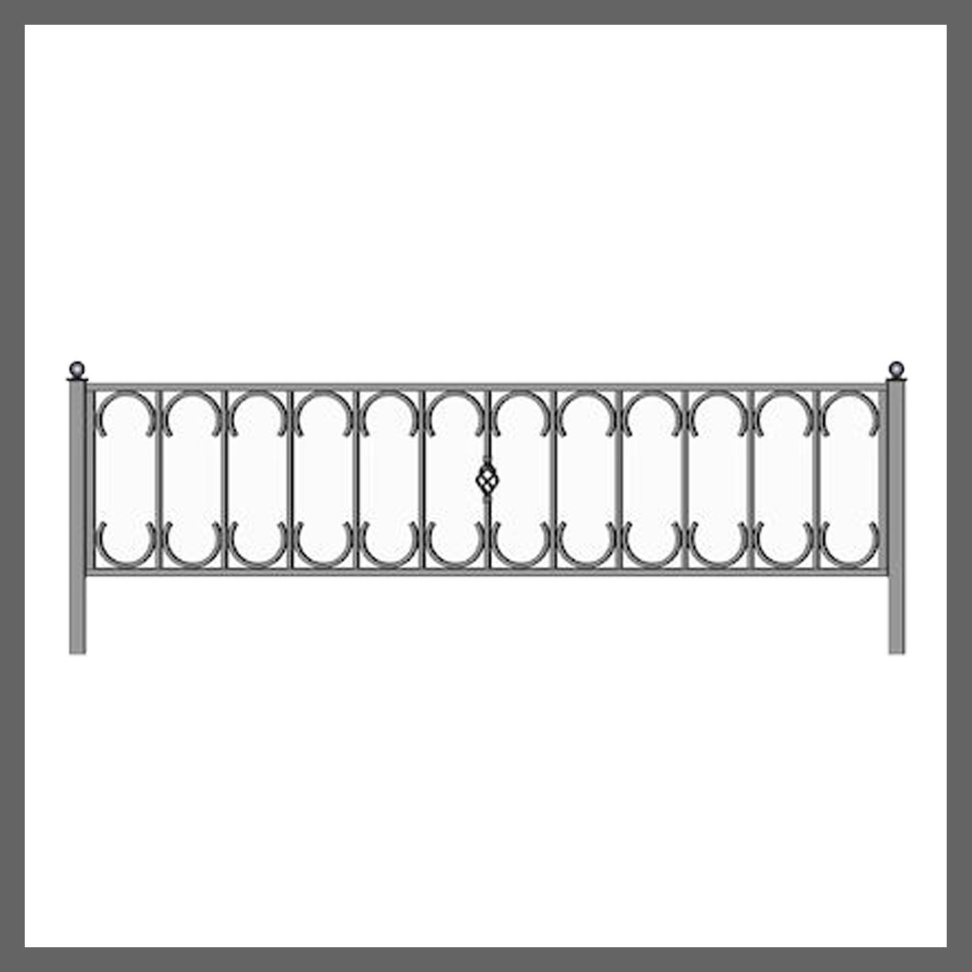 Эскиз ограды на кладбище 40